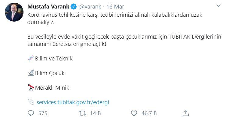 Mustafa Varank Twit